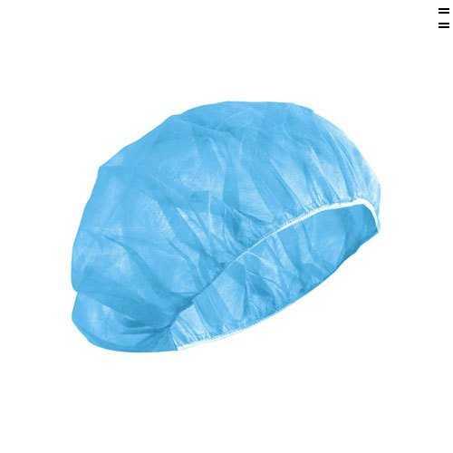 Disposable Cap Nurse: Blue, Non-woven, Elastic Band, 20gm (100's)