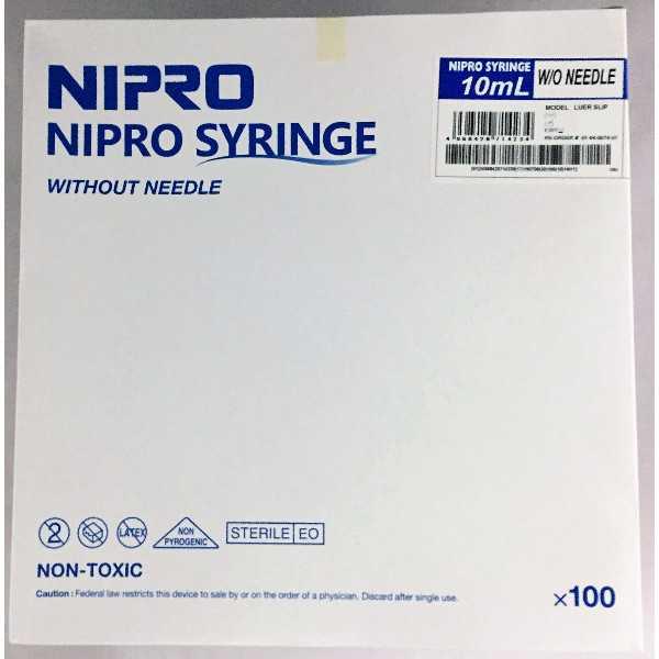 10cc Syringe - Luer Slip (100/box)