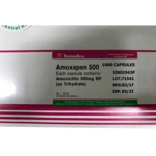 Remedica Amoxapen Capsules 500mg (1000 Capsules/Box)