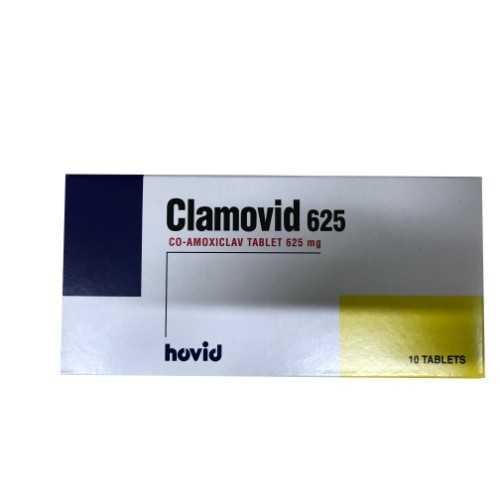 Hovid Clamovid 625 - Co-Amoxiclav Tablet 625mg (10 Tablets)