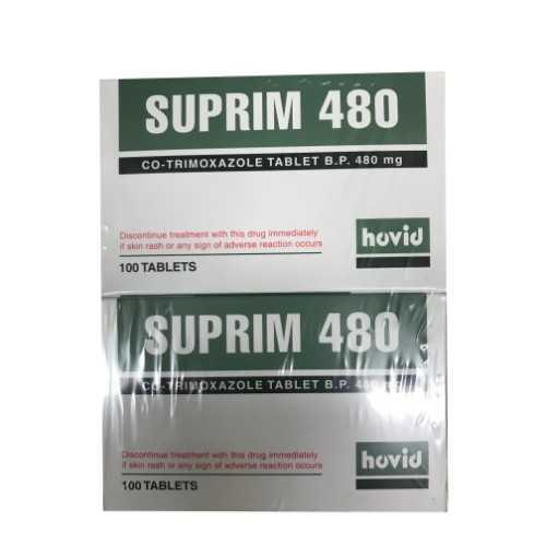 Hovid Suprim 480 - Co-Trimoxazole B.P. 480mg (100 Tablets/Box)