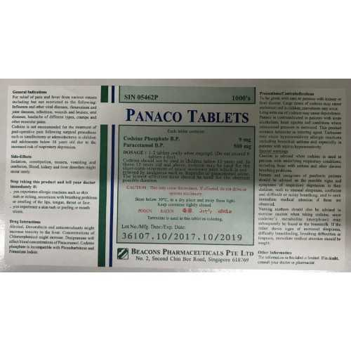 Beacons Panaco Tablet (100 Tablets/Box)