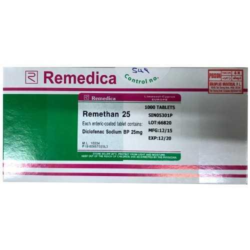 Remedica Remethan Tablet 25mg (1000 Tablets)
