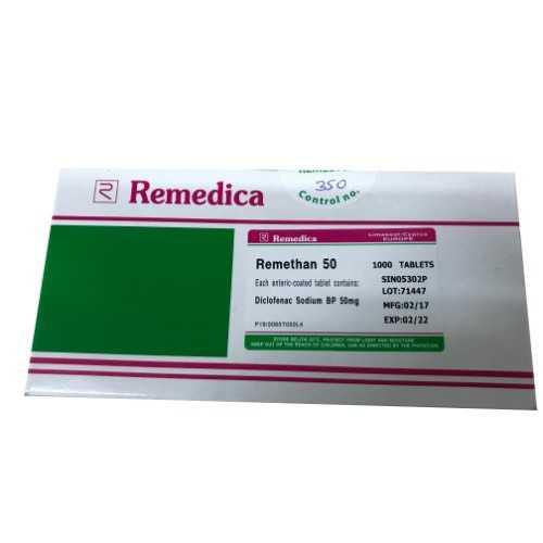 Remedica Remethan Tablet 50mg (1000 Tablets)