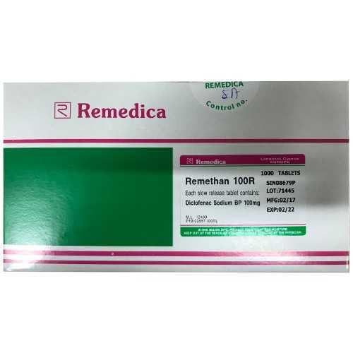 Remedica Remethan 100R Tablet 100mg (1000 Tablets)