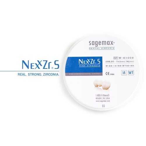 Sagemax Zirconia NexxZr S White W-98/25mm