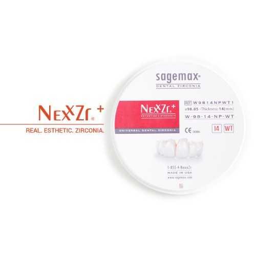 Sagemax Zirconia NexxZr Plus White W-98/14mm