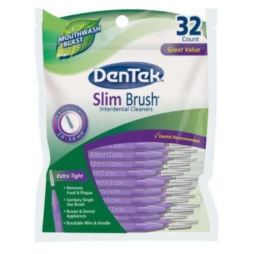 PROMO 36+36: DenTek® Slim Brush™Interdental Brush - Extra Tight, 2.0mm-3.0mm (32pcs/pk)