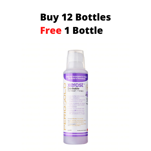 PROMO 12+1 FREE: Periogold Xerost Drinkable Dry Mouth Therapy - Mixed Berry Flavor (250ml)