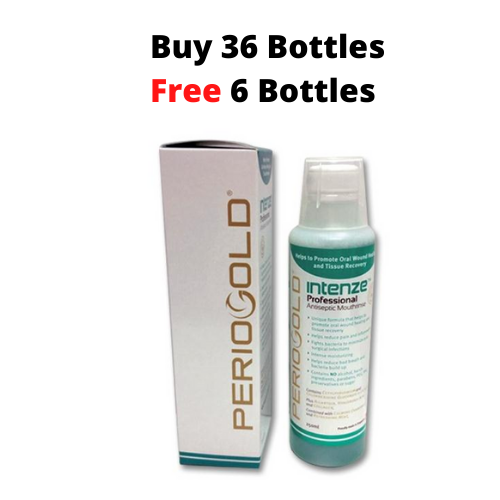 PROMO 36+6 FREE: Periogold Intenze Professional Antiseptic Mouthrinse/Mouthwash - Cetylpyridinium Chloride 0.05%  (250ml)