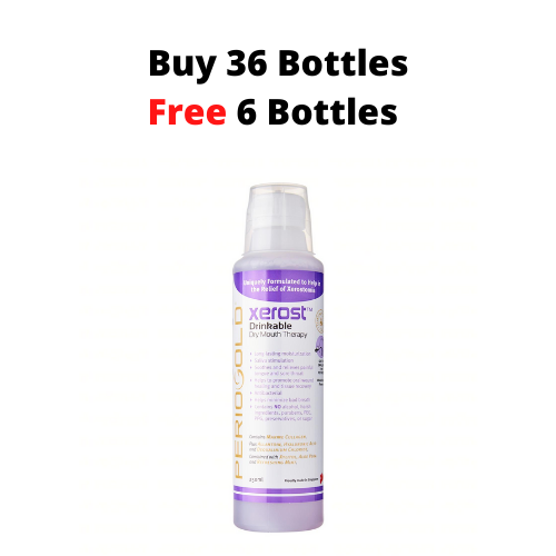 PROMO 36+6 FREE: Periogold Xerost Drinkable Dry Mouth Therapy - Mixed Berry Flavor (250ml)