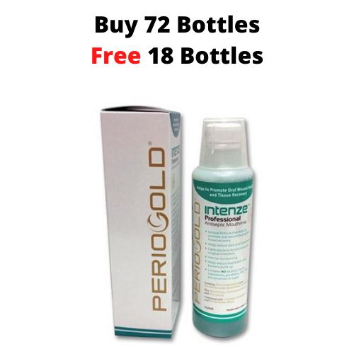 PROMO 72+18 FREE: Periogold Intenze Professional Antiseptic Mouthrinse/Mouthwash - Cetylpyridinium Chloride 0.05%  (250ml)