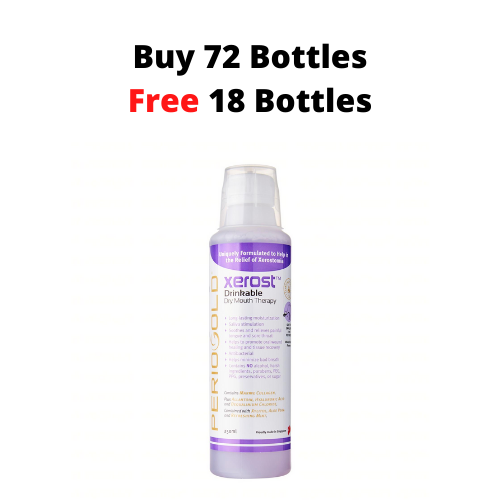PROMO 72+18 FREE: Periogold Xerost Drinkable Dry Mouth Therapy - Mixed Berry Flavor (250ml)