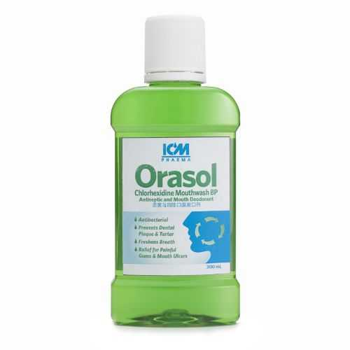 ICM Pharma Orasol Antiseptic Mouthwash - Chlorhexidine Gluconate BP 0.2% w/v (4Litre)