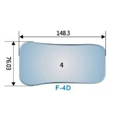 Photography Mirror #4 (F-4D) - 148.3 x 76.03mm