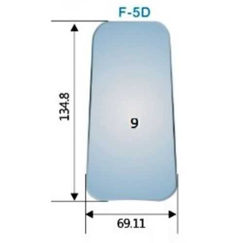 Photography Mirror #9 (F-5D) - 134.8 x 69.11mm