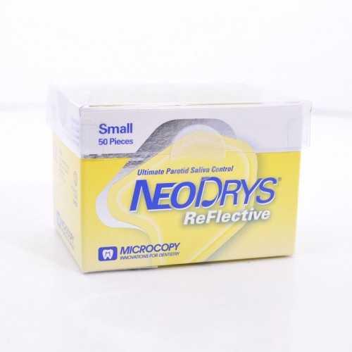Maxill Neo Drys Ultimate Parotid Saliva Control, Reflective - Small (50/pk)