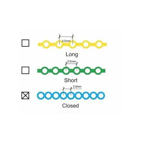 Forestadent Power Chain - Continuous, Teal (15ft)