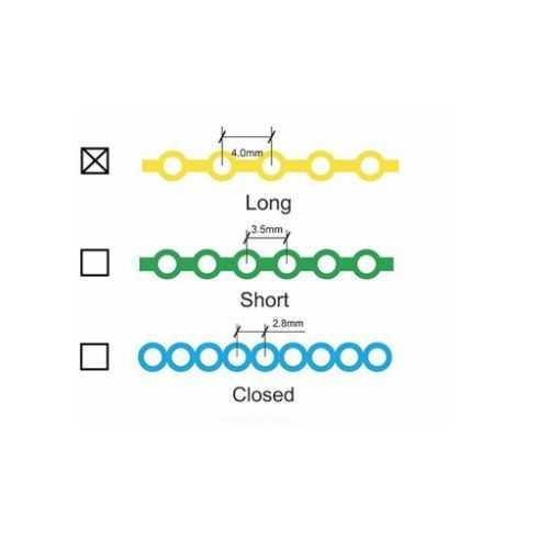 Forestadent Power Chain - Long, Turquoise (15ft)