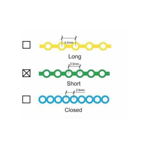 Forestadent Power Chain - Short, Glow Blue (15ft)
