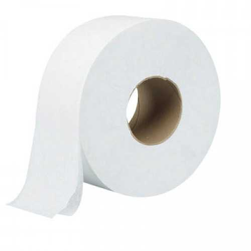 Jumbo Roll Toilet Paper 600gm Virgin Paper - 1 Carton (12 Rolls)