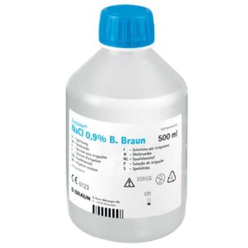 B.Braun Sodium Chloride 0.9% Irrigation with Screw Cap (500ml) Saline Water