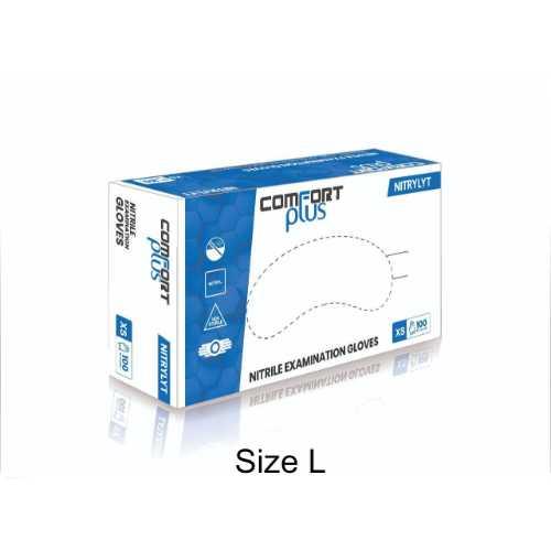 Nitrile Gloves Powder Free 3.8g - Size L (10 Boxes x 100pcs/Box)