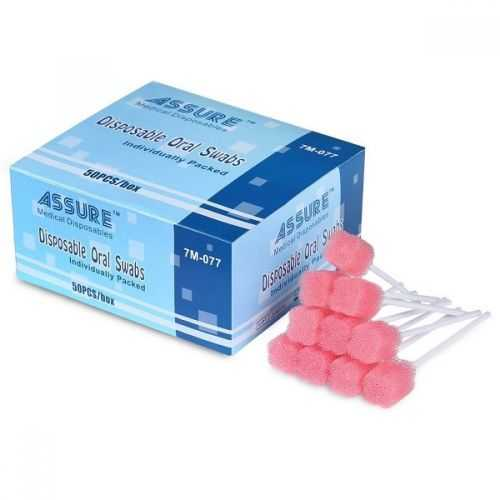 Disposable Oral Swab Sticks, Individually Packed (50pcs/box)