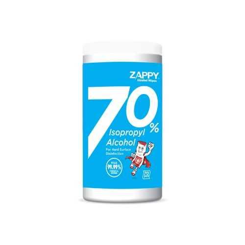 Zappy™ Isopropyl Alcohol 70% Wipes - 30cm x 20cm (70 Sheets)